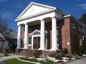 Front view of Oriental First Baptist Church