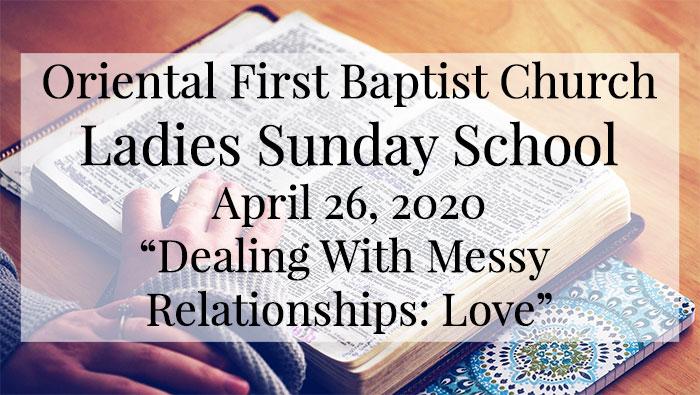 OFBC Ladies Sunday School Lesson for April 26, 2020
