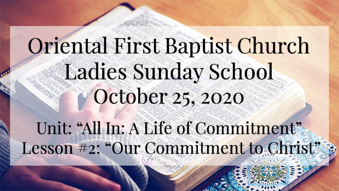 OFBC Ladies Sunday School for October 25 2020