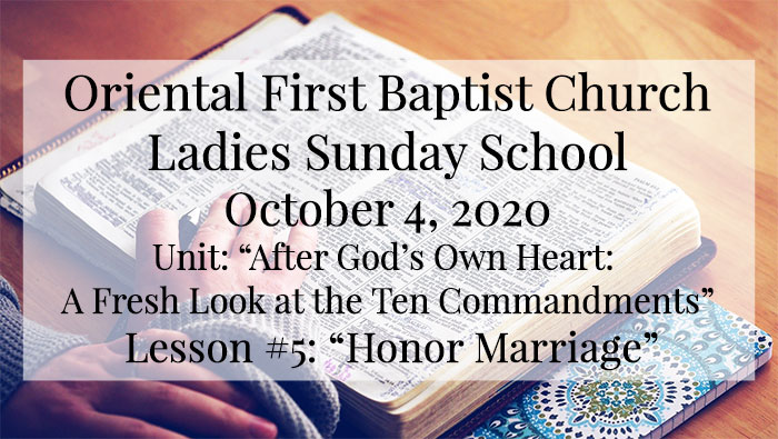 OFBC Ladies Sunday School for October 4 2020