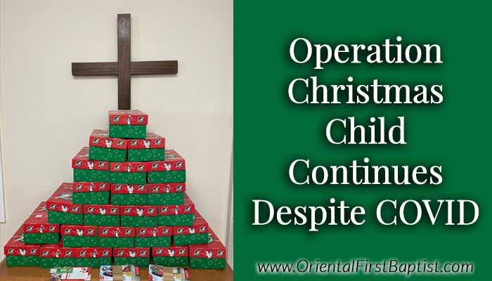 Operation Christmas Child Announcement