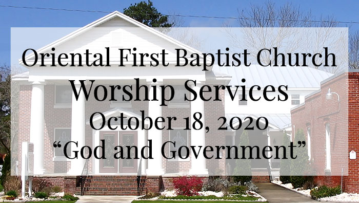 OFBC Worship Service for October 18 2020