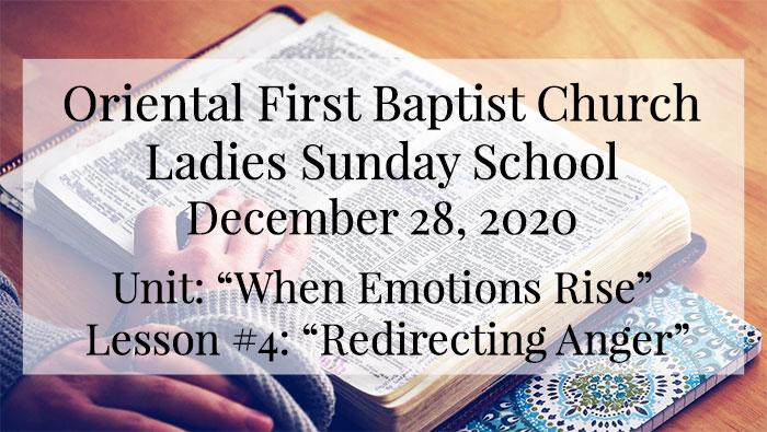 OFBC Ladies Sunday School for December 28 2020