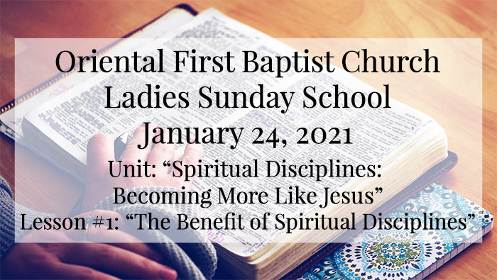 OFBC Ladies Sunday School for January 24 2021