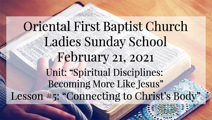 Ladies Sunday School for February 21 2021
