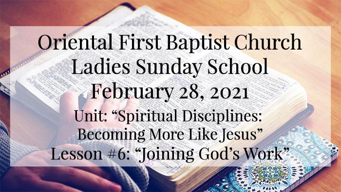 OFBC Ladies Sunday School for February 28 2021