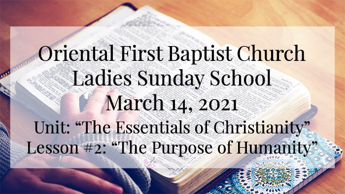 Ladies Sunday School for March 14 2021