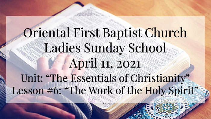 OFBC Ladies Sunday School for April 11 2021