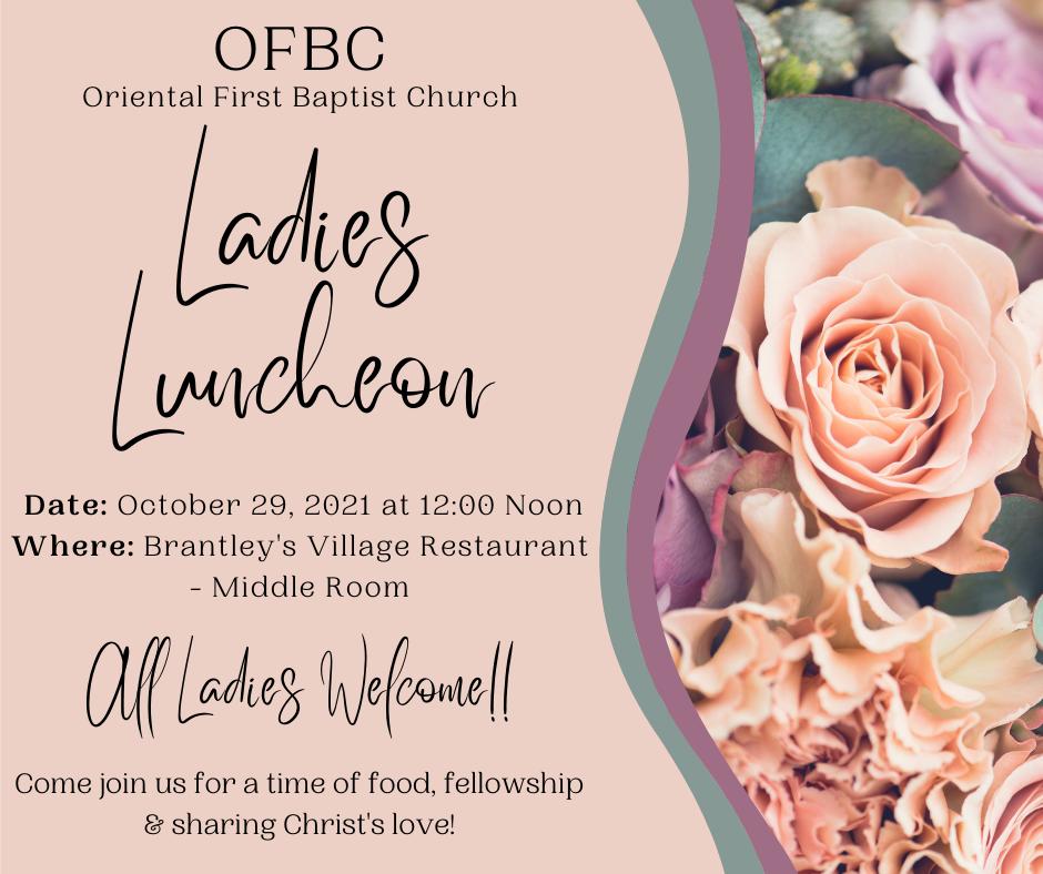 OFBC Ladies Luncheon Info